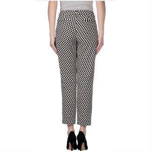 Joie Rosmira geometric crepe trousers black white